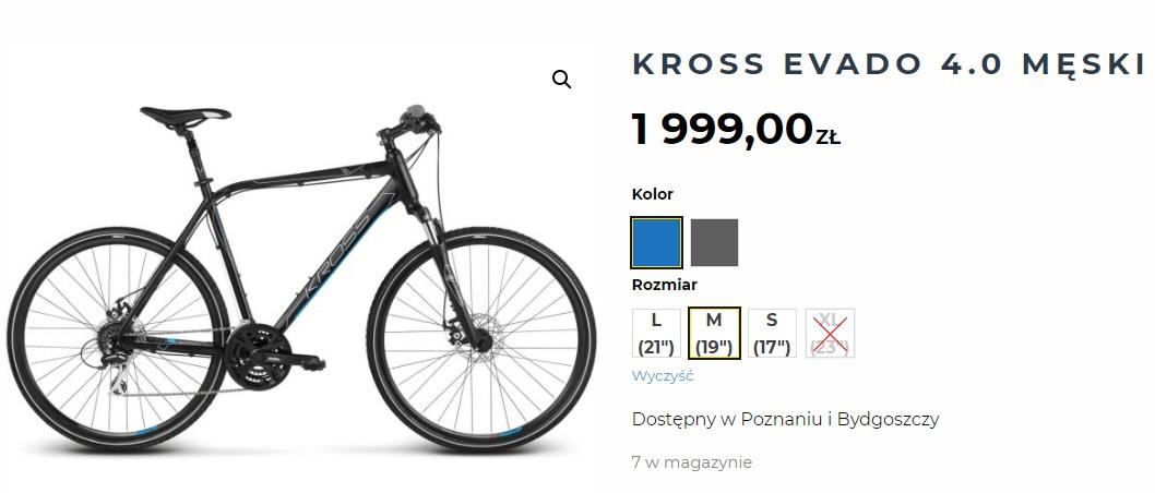 Dostępność rowerów w sklepach CCR Sport