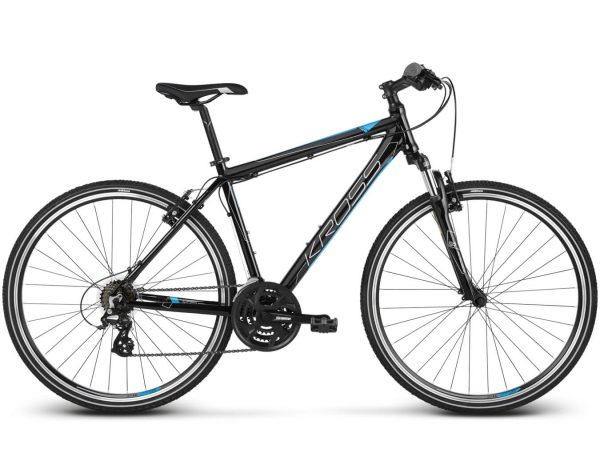 Rower Kross Evado 2.0 czarno-niebieski