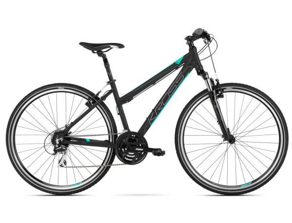 Rower Kross Evado 2.0 damski czarno-miętowy