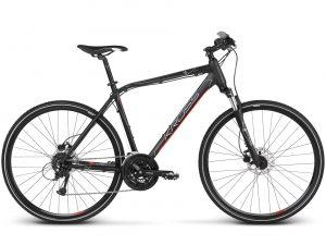 Rower męski Kross Evado 5.0 czarno-czerwony