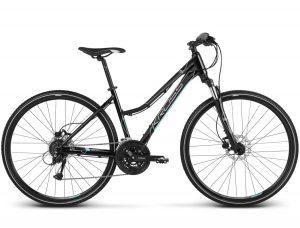 Rower damski Kross Evado 5.0 czarno-turkusowy
