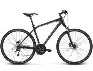 Rower Kross Evado 6.0 męski czarno-niebieski