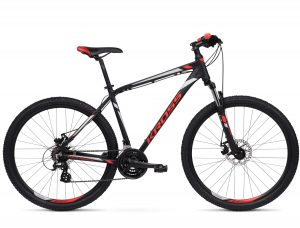 Rower Kross Hexagon 3.0 czarno-czerwony