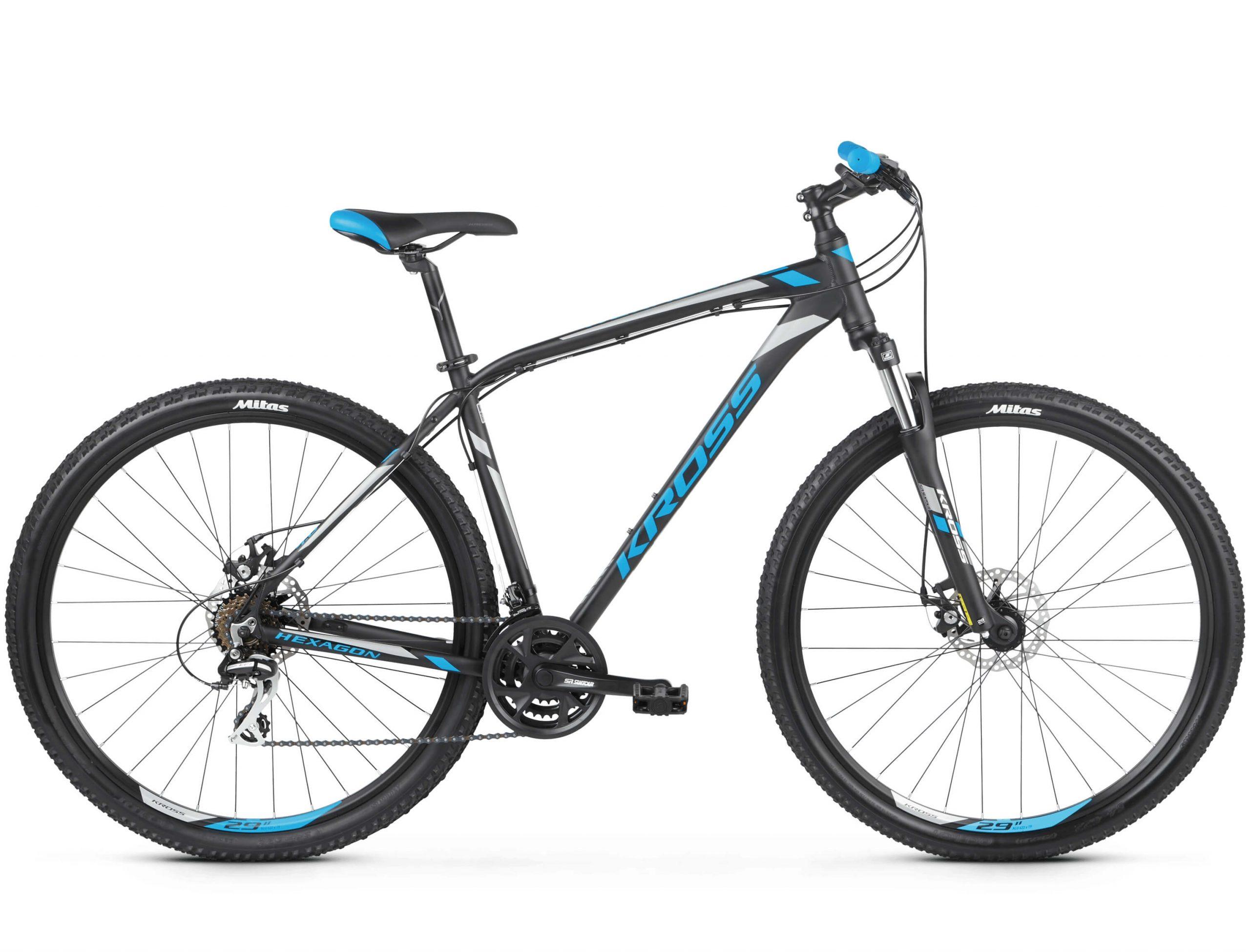 Rower Kross Hexagon 4 czarno-niebieski