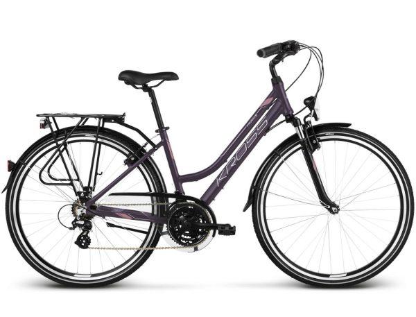 Rower Kross Trans 2.0 fioletowo-różowy