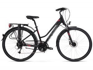 Rower Kross Trans 5.0 damski czarno-malinowy