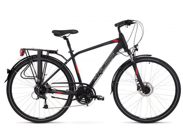 Rower Kross Trans 5.0 męski czarno-czerwony