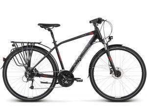 Rower Kross Trans 8.0 czarno-bordowy