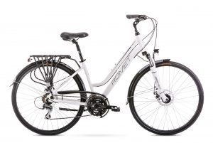 Rower Romet Gazela 4 biało-czarny