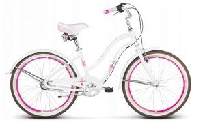 Rower Le Grand Sanibel jr. biało-różowy