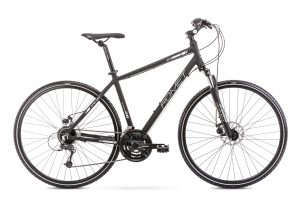Rower Romet Orkan 3 czarno-srebrny męski