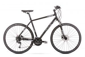 Rower crossowy Romet Orkan 6 męski czarno-biały