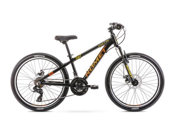 Rower Romet Rambler Dirt 24 czarno-pomarańczowy