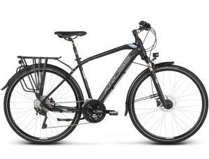 Rower Kross Trans 10 czarno-stalowo-srebrny męski