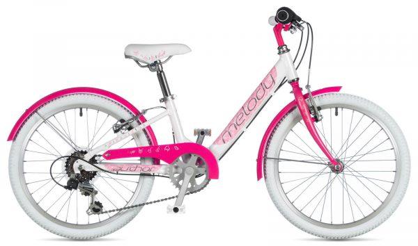 Rower Author Melody 20 biało-różowy