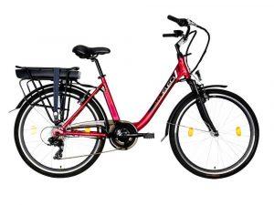 Rower elektryczny Lovelec Norma czerwony